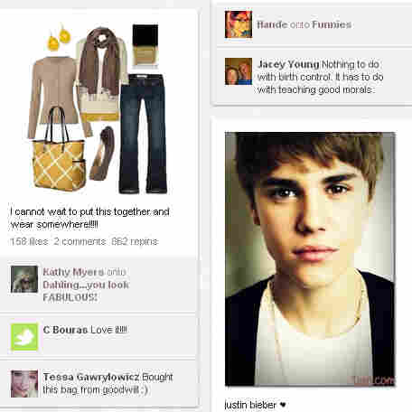 "A visit to the Pinterest homepage typically reveals images of makeup, women's fashions — and the occasional ""pin"" of Justin Bieber."