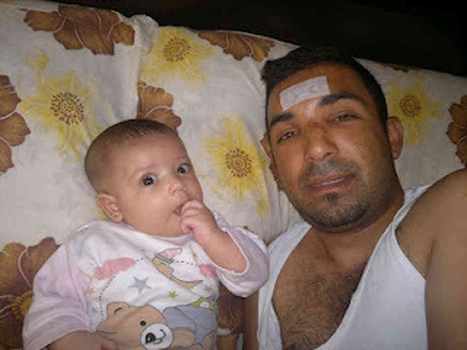Rami al-Sayed with his daughter Maryam.
