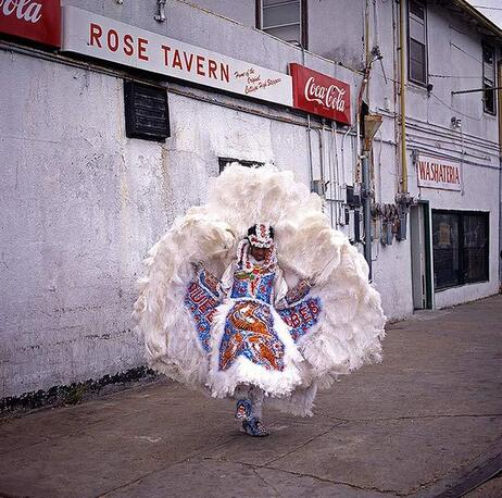 A Mardi Gras Indian in New Orleans.