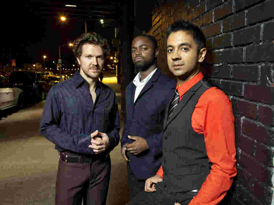 Vijay Iyer and his trio masterfully articulate a complex composition's exuberant, zigzagging melody.