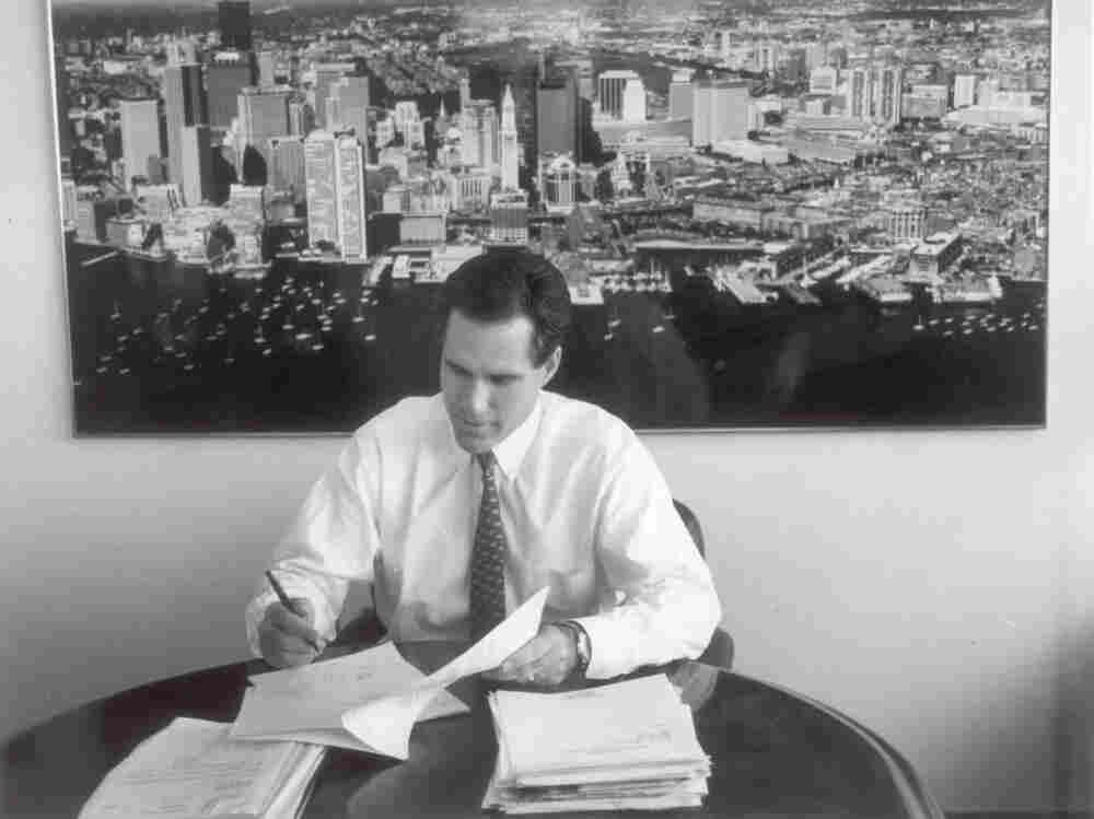 Mitt Romney, shown here when he was president of Bain Capital.