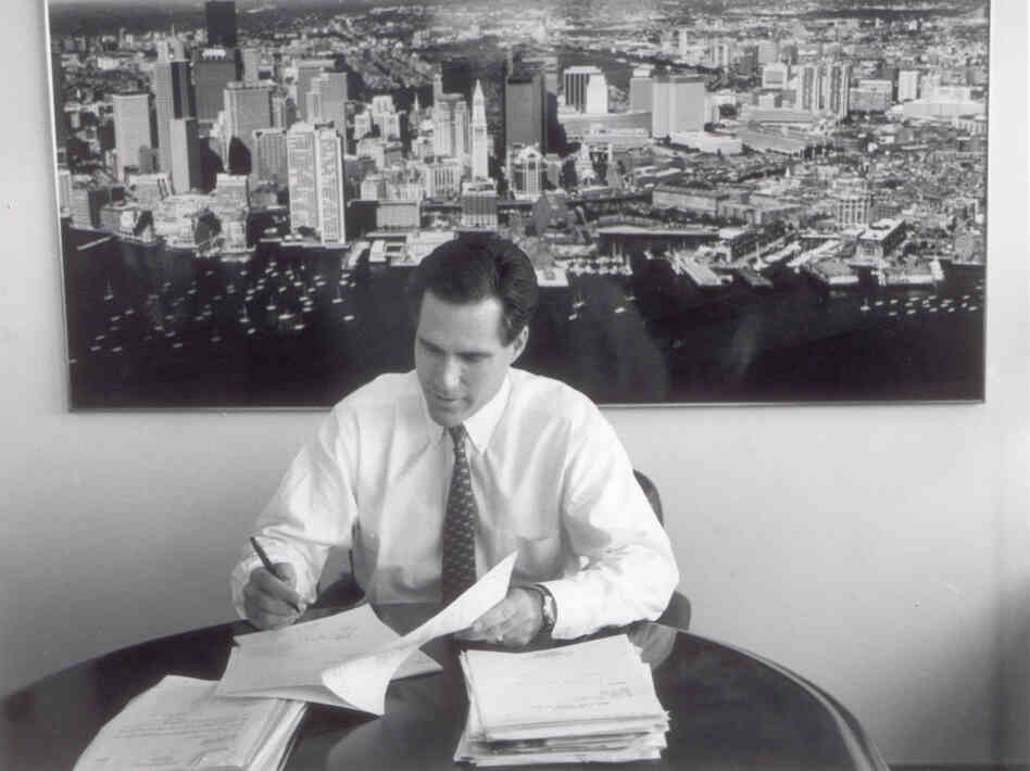 Mitt Romney, shown here when he was president of Bain Capital.