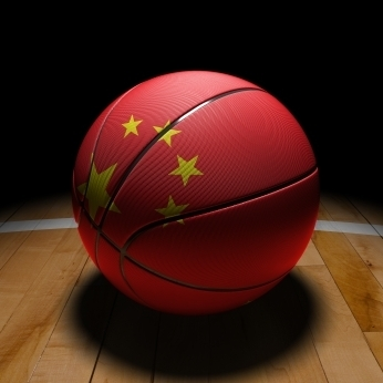 Chinese flag basketball