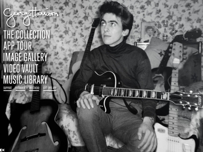 A Young George Harrison And His Many Guitars