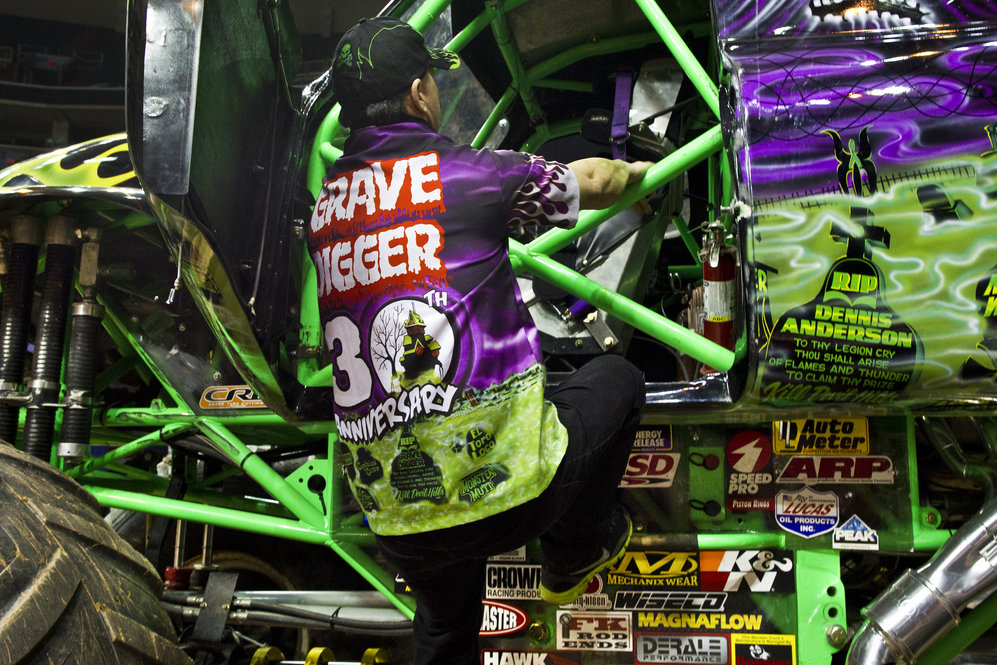The Grave Digger's imagery of green flames and foggy graveyard scenes has earned it a wild reputation and unceasing popularity. The trucks have become the poster child for Monster Jam, and in some cases monster trucks in general.