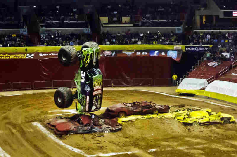 We Crush The Cars Inside The Monster Truck Arena Npr