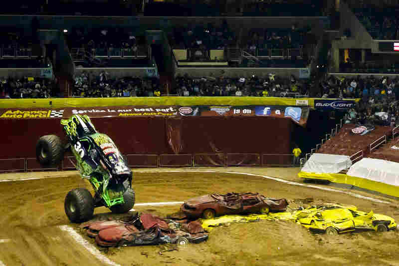"""The Grave Digger truck received its name in 1981, when its builder Dennis Anderson, jokingly trash-talking with his fellow racers, said the now famous line, """"I'll take this old junk and dig you a grave with it!"""""""