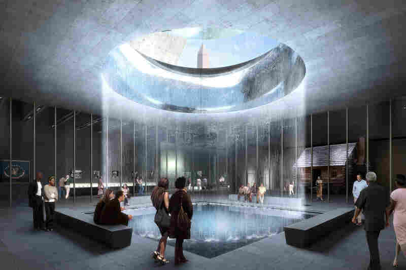 """Whether your family's been in this country 200 years or 20 minutes,"" Bunch says, ""I want you to come to this museum and say, 'I get it. This is not a black story. This is my story. This is the American story.'"" Above, an architectural rendering shows the interior of the museum."
