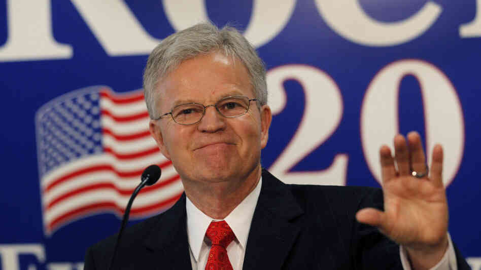 Buddy Roemer announces an exploratory committee for a 2012 White House bid last March in Baton Rouge, La. On Wednesday, he announced that he would drop his GOP candidacy to seek third party avenues.