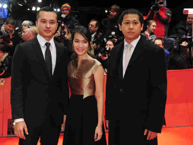 Indonesian director Edwin, right, debuted his film Postcards from the Zoo with actors Nicholas Saputra and Ladya Cheryl at this year's Berlinale.