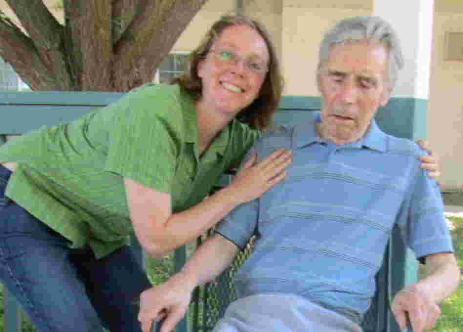 The last photo of Joy and her father, taken in July 2011.