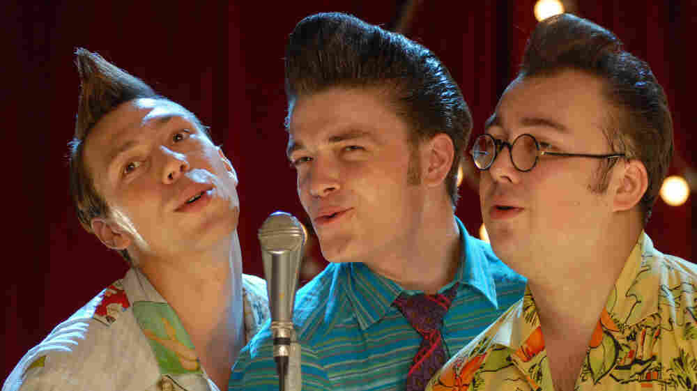 """Dryn (Konstantin Balakirev, left), Fred (Maksim Matveev), and Bob (Igor Voynarovsky) rebel against the cultural norms in the Soviet Union of the '50s, adopting colorful clothing, hairstyles and a mode of living that earned them the derogatory moniker stilyagi, or """"stylish people."""""""