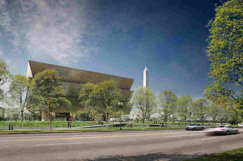 An architectural rendering of the Smithsonian's National Museum of African American History and Culture, which is expected to open on the National Mall in Washington, D.C., in 2015.