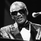 American singer, pianist and songwriter Ray Charles performs in concert.