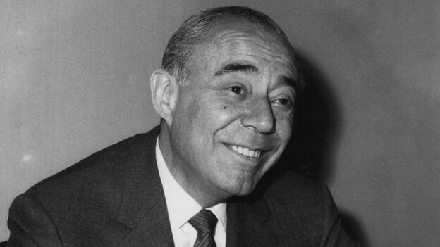 Composer Richard Rodgers in London for the opening of 'The Boys From Syracuse'. (Getty Images)