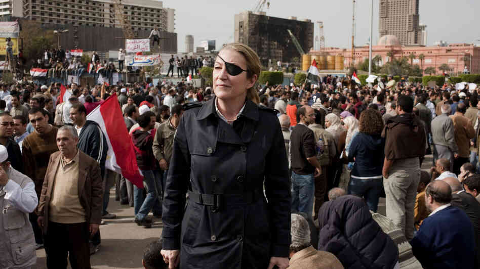 Veteran war correspondent Marie Colvin often traveled by herself to the front lines of conflicts to interview civilians trapped by war. Colvin, who was killed Wednesday in the Syrian city of Homs, is shown here in Cairo in an undated photo.