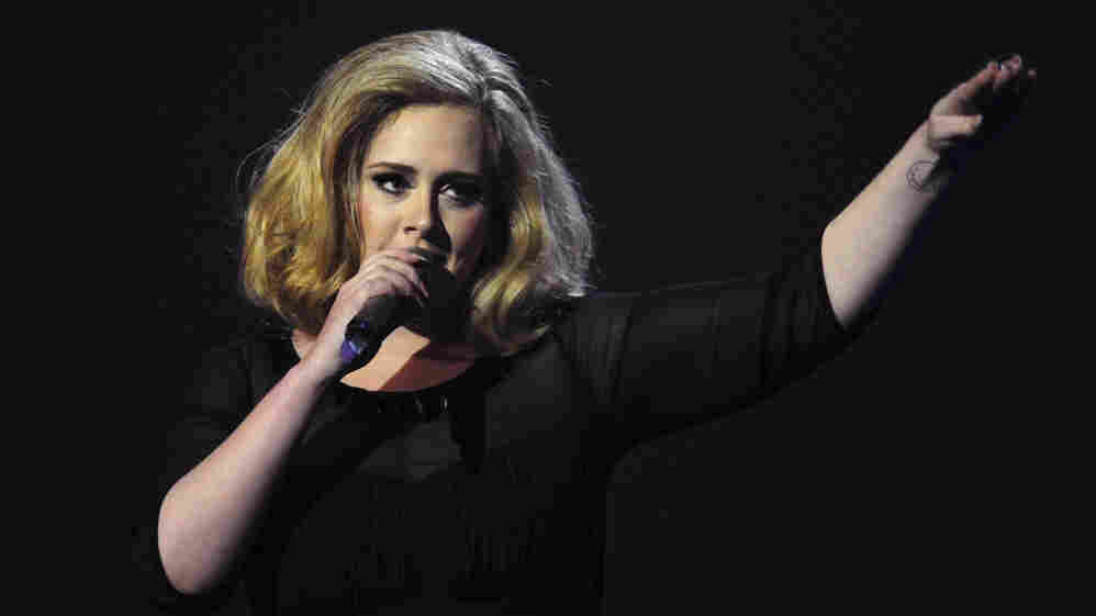 Adele at the BRIT Awards in London