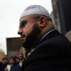 Mohamed El filali, of the Islamic Center of Passaic County, gathers with Muslim students and community leaders in Newark on Friday to address the monitoring of New Jersey Muslims by the NYPD.