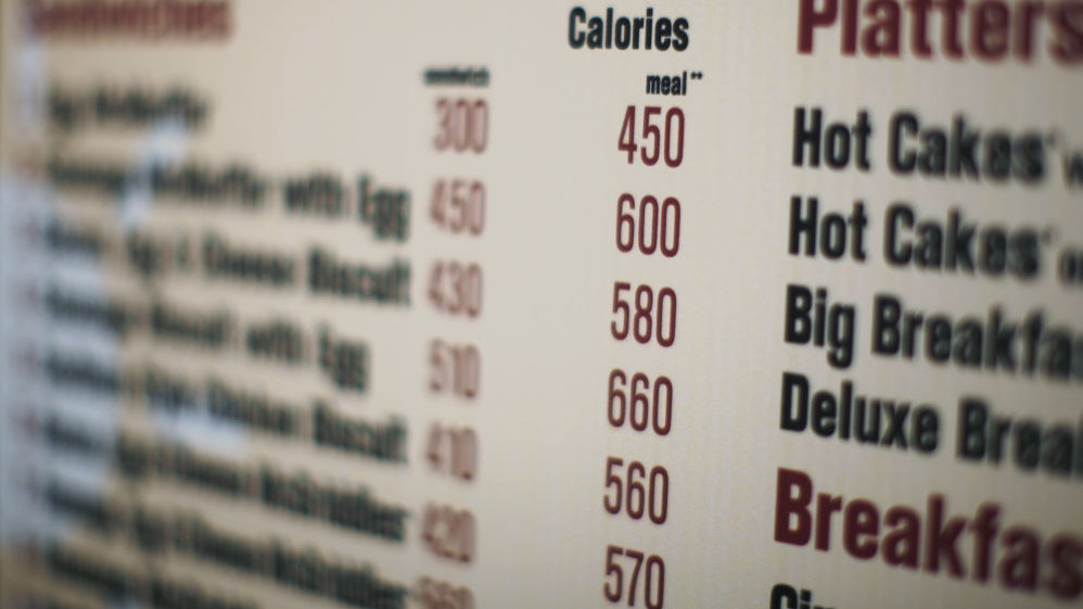 Menu Math When Counting Fast Food Calories Requires A Calculator