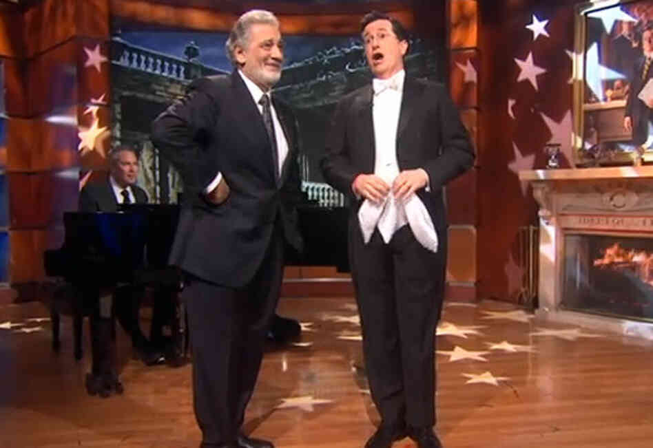 A duet for the ages: Domingo and Colbert.