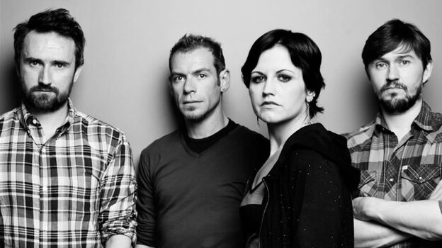 The Cranberries (left to right): Noel Hogan, Fergal Lawler, Dolores O'Riordan, Mike Hogan. (Courtesy of the artist)