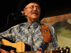 D.W. Groethe performs at the National Cowboy Poetry Gathering in Elko, Nev.