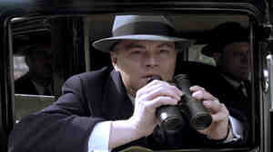 Leonardo DiCaprio plays J. Edgar Hoover in J. Edgar, a biopic written by Dustin Lance Black.