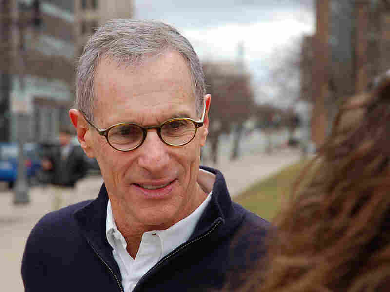 Karger has spent a lot of time at Michigan State University, where he's trying to appeal to supporters of President Obama. Any registered voter can cast a ballot in Michigan's GOP primary.