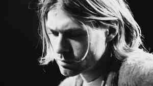 Kurt Cobain performs with Nirvana at a taping of the television program 'MTV Unplugged' in New York