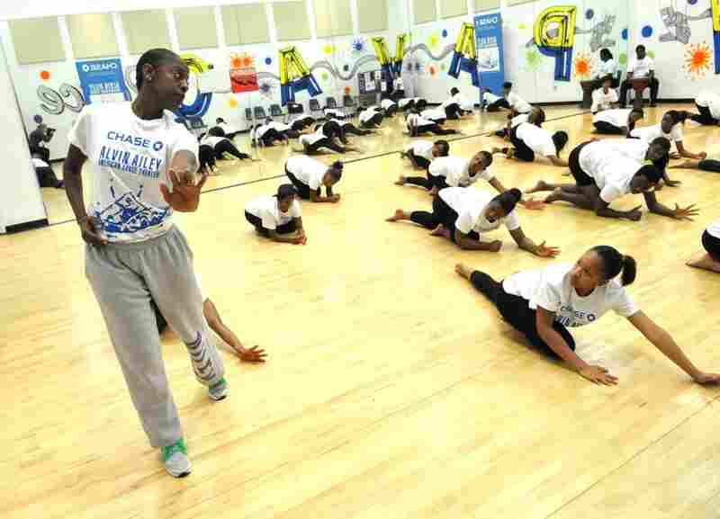 Students in the Miami Northwestern Senior High School Revelations Residency are taught by Alvin Ailey's Nasha Thomas-Schmitt.