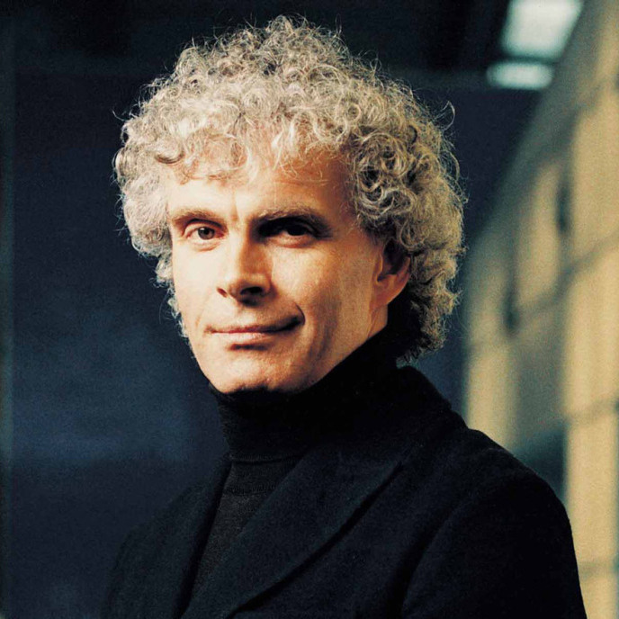 Conductor Simon Rattle.