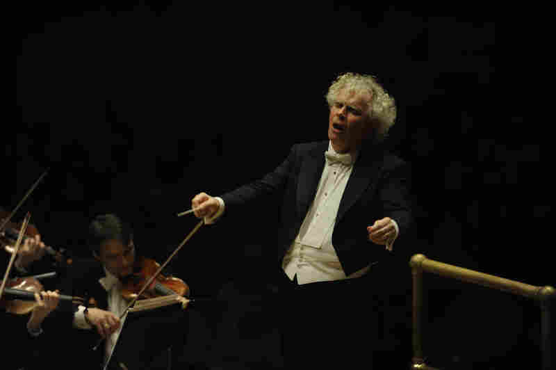 """Simon Rattle has said that it was a performance of Mahler's """"Resurrection"""" Symphony he heard live at age 12 that made him want to become a conductor."""
