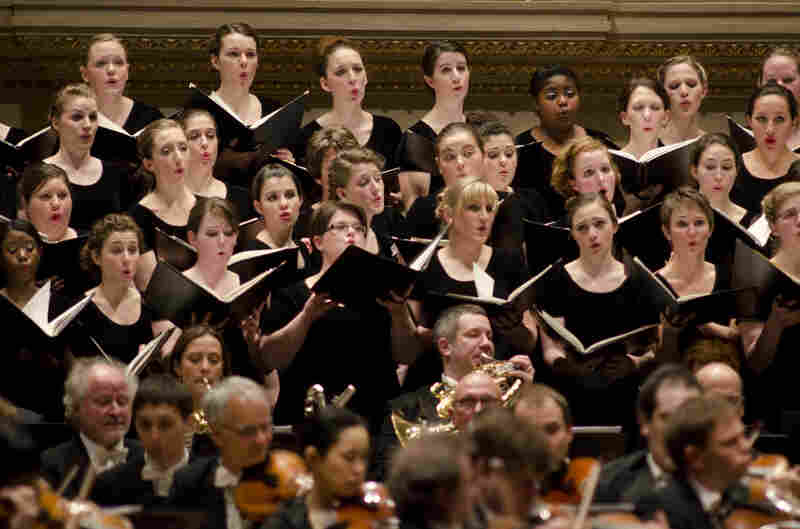 Over 140 choristers participated in this performance of the Mahler.