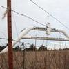 A mock oil pipeline near Cushing, Okla.