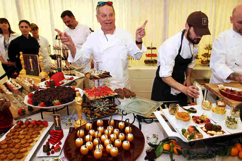 Chef Wolfgang Puck made 24-karat chocolate Oscars and a chocolate with a 3-D image of the golden statue as part of the dessert course for the Governors Ball held last Thursday.