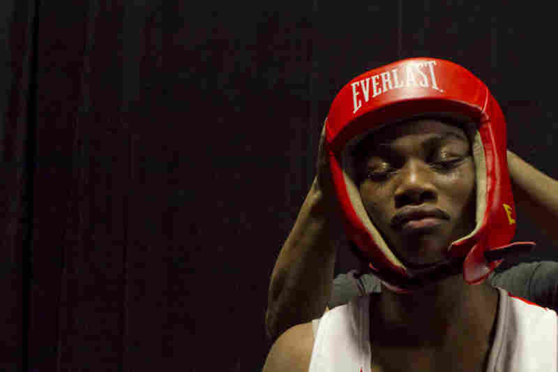 Claressa prepares for her first fight against top-ranked middleweight Franchon Crews during the first-ever U.S. Olympic team trials for women's boxing, held in Spokane, Wash., earlier this month.
