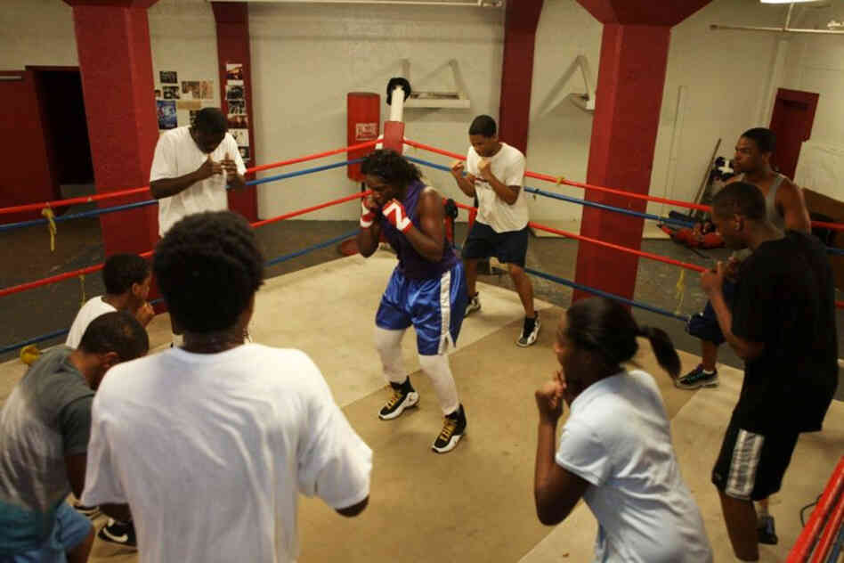 """They have to look at me like their sister,"" Claressa says of the boxers she trains with. ""No dating or you get put out of the gym. You don't want to mix biz with pleasure."""