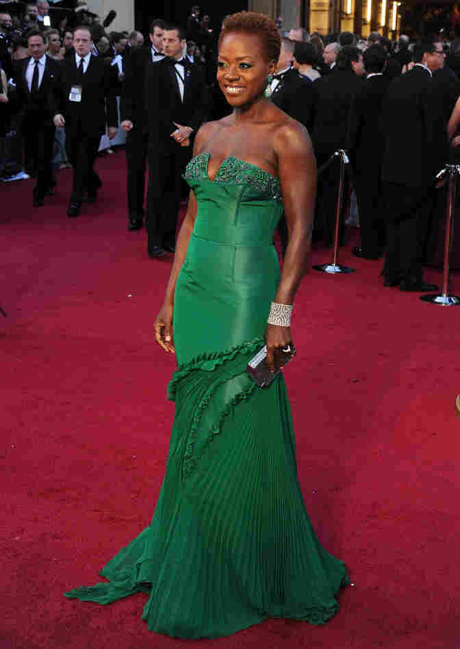 Viola Davis on the red carpet.