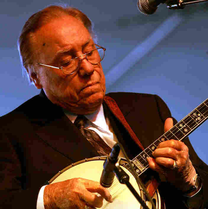 Earl Scruggs performs at the Stagecoach Music Festival in 2007.