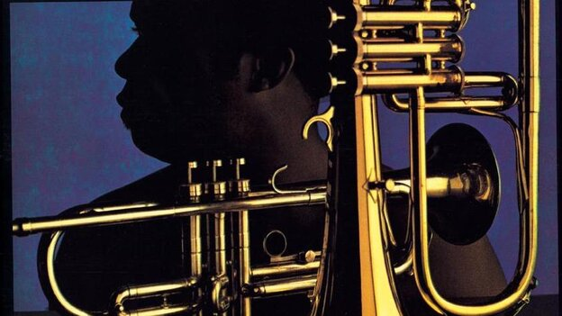 Freddie Hubbard on the cover of First Light.