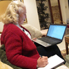Kay Clymer spends hours each day urging fellow Christians to vote. She finds their phone numbers through a database created by the company United In Purpose.