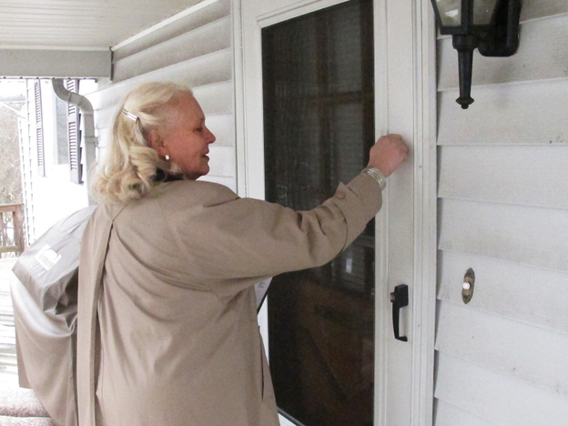 Clymer knocks on doors in Ohio in an attempt to encourage Christians to register to vote.