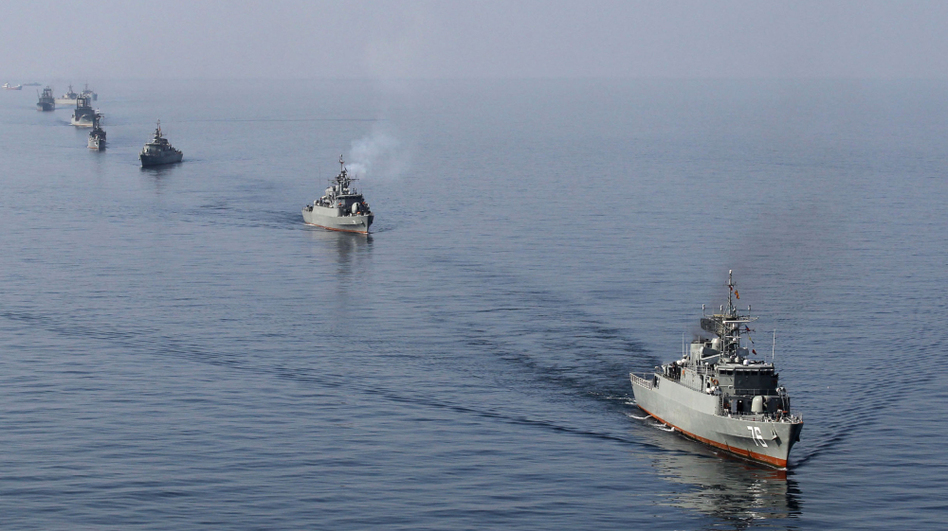 Iranian Navy boats take part in exercises in the Strait of Hormuz this past January. Amid the current tension with the West, Iran has threatened to close the strait, a major export route for oil coming from the Middle East. (AFP/Getty Images)