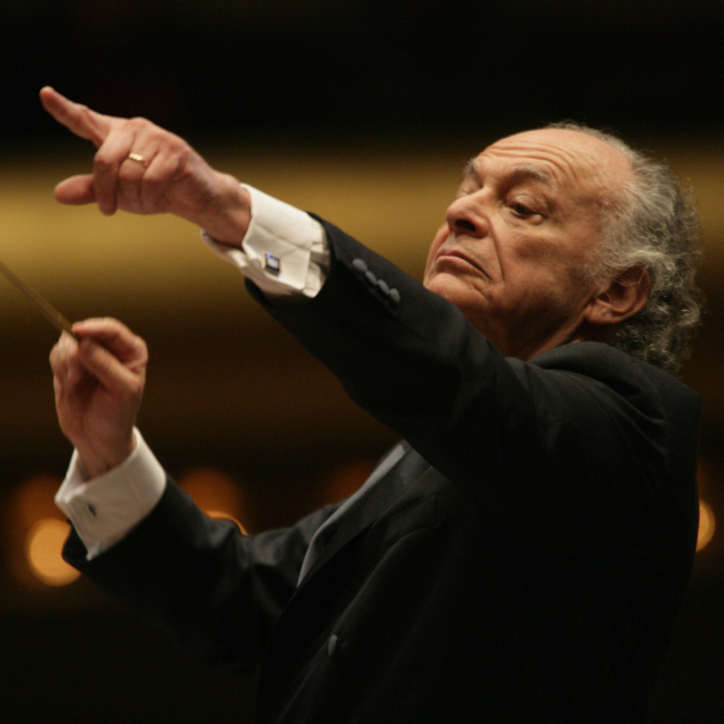 Conductor Lorin Maazel, whose own, truncated orchestra-only arrangement of Wagner's Ring cycle will be performed by the Vienna Philharmonic.