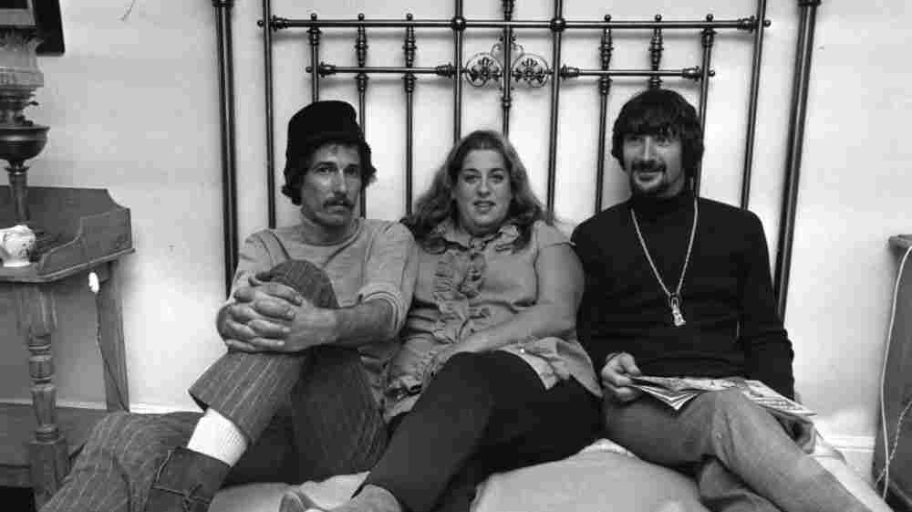 Mama Cass Elliot with her Mamas and the Papas bandmates John Phillips and Denny Doherty in 1966.