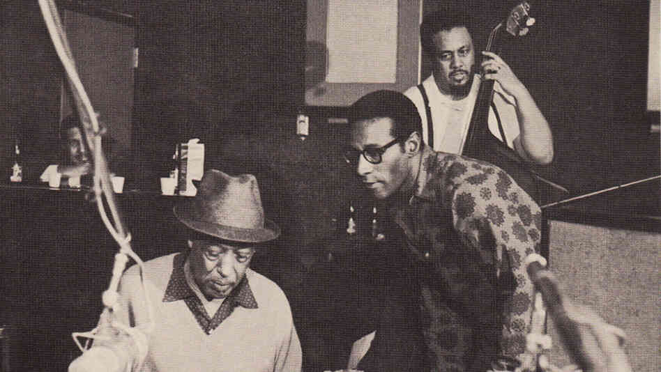 Duke Ellington, Max Roach and Charles Mingus on the cover of Money Jungle.
