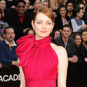 Emma Stone arrives at the 84th Annual Academy Awards in Hollywood.