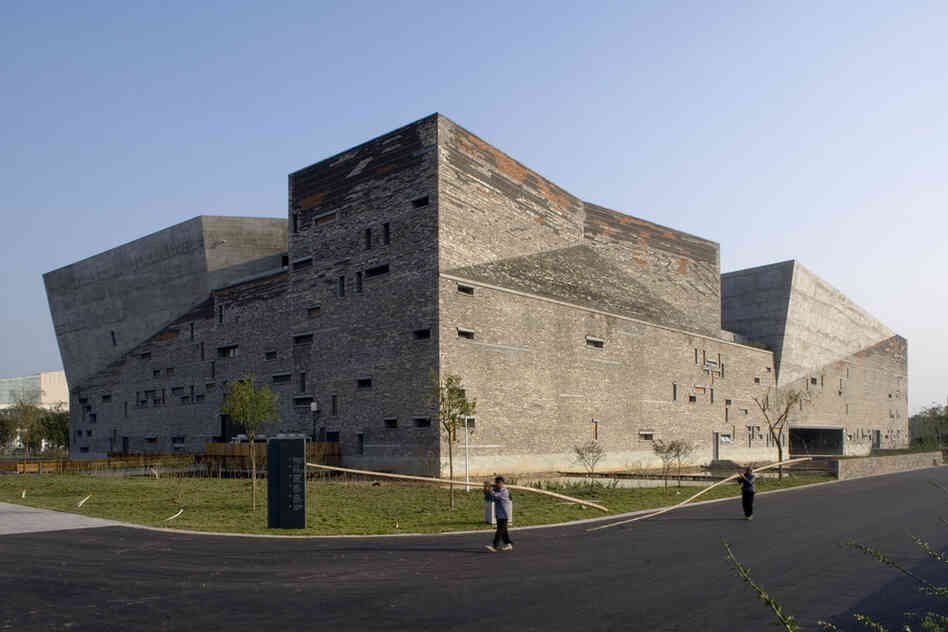 "Wang Shu, 49, is the first Chinese architect to receive the Pritzker Prize. ""His work represents that standard of excellence which will be so critical to China's future,"" says Thomas J. Pritzker. Above, Wang's Ningbo History Museum, 2003-2008, Ningbo, China."