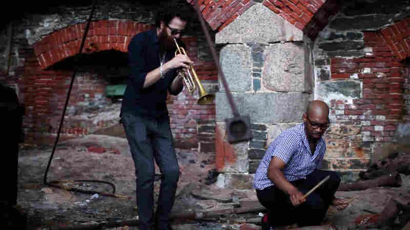 Avishai Cohen and Eric Harland perform at Fort Adams in Newport, RI.
