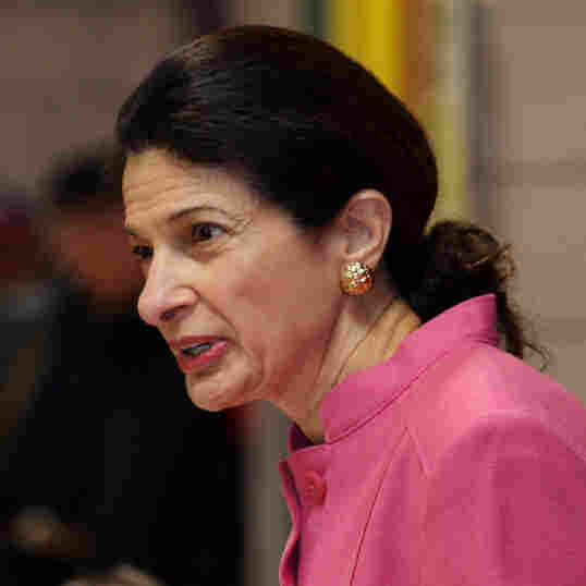 Sen. Olympia Snowe in Augusta, Maine, Saturday, Feb. 4, 2012.